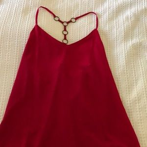 Violet red tank with interesting back detail